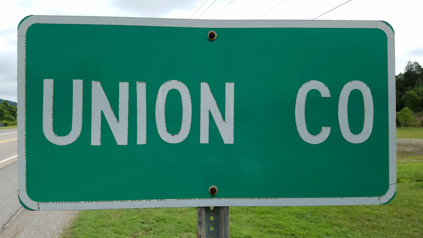 Union County Road Sign